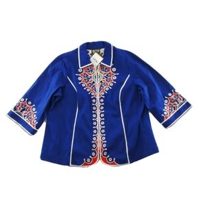 Bob Mackie Wearable Art Embroidered Floral Jacket